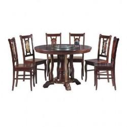Bàn ghế ăn gỗ tự nhiên TGA21V, TB21V